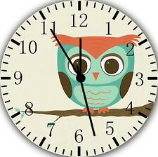 """Cute Owl Wall Clock 10"""" will be nice Gift and Room wall Decor E218"""