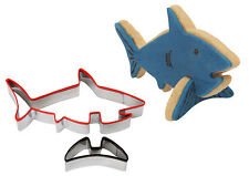 Dexam Make Bake 3D Shark Cookie Biscuit Cutter Set Stainless Steel Silicone Grip