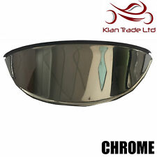 "UNIVERSAL MOTORBIKE CHROME HEADLIGHT LAMP SHADE VISOR 7"" - PLAIN"