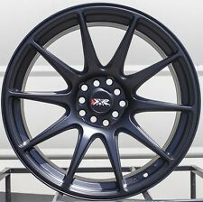 17X8.25 XXR 527 WHEELS 5X100/114.3 RIM 35MM FLAT BLACK FITS ACCORD 1993-UP