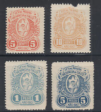 Argentina, Salta, Ley de Multas, Forbin 26/32 mint 1910 Fiscals, 4 different