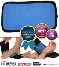 "Pain Relief Wrap Hand Foot Wrist Elbow Hot & Cold Therapy Ice Pack 14"" Strap New"