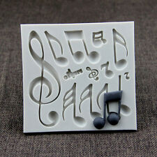 Music cupcake mold fondant cake decorating tools silicone chocolate molds mould