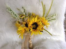 Wedding flowers bridal bouquet decorations sunflowers 28 pc huge pkg