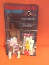 1976 MEGO DOLL - MUHAMMAD ALI - THE CHAMP - RARE UNPUNCHED - MINT ON CARD - P