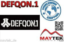 DEFQON 1 - 60 x 215mm - Weiß / Withe Aufkleber, Sticker, Decal, Autocollant
