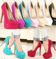 WOMENS LADIES HIGH HEEL CONCEALED PLATFORM PARTY COURT SHOES PUMPS Shoes