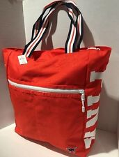 Victoria's Secret PINK Orange Tote Bag Shopper New 2017