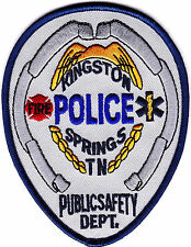 Kingston Springs Police Public Safety Police Patch Tennessee TN NEW!!