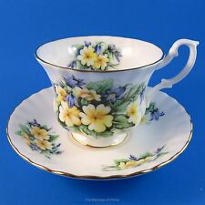 Royal Albert Summertime Series Yellow Primrose & Blue Bell Tea Cup and Saucer