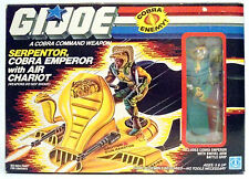 GI JOE SERPENTOR, COBRA EMPEROR with AIR CHARIOT