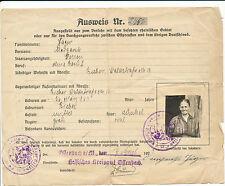 Personal  Ausweis Hessisches Kreisamt Offenbach M. Rheinischen Gebiet Ostpreußen