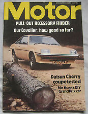 Motor 4/12/1976 featuring Datsun Cherry Coupe road test, Vauxhall Cavalier