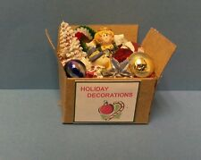 Dollhouse miniatures 1:12 scale handcrafted box Christmas Holiday decorations