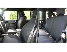 Jeep Wrangler 2007-2010 Rubicon Neoprene FULL set Seat Cover 4 Door Black yes4d
