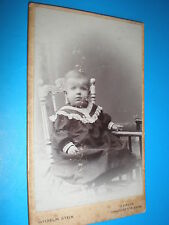 Cdv old photograph baby in chair by Stein at Berlin c1900s Ref 500(4)