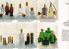 PUBLICITE ADVERTISING 045  1969   MARCEL FRANCK  les vaporisateurs de parfum( 2p