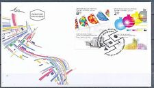 ISRAEL 2016 DIGITAL PRINTING PRESS ACHIEVEMENTS STAMPS  FDC