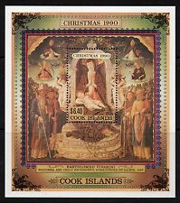 Cook Islands 1990 Christmas miniature sheet SG 1252 fine used (CTO)