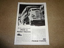 """1941 Ford Commercial Trucks Vintage Magazine Ad """"For Low Cost per Ton Mile..."""""""