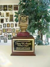 FANTASY FOOTBALL LOSER  INDIVIDUAL LAST PLACE TOILET BOWL TROPHY FFL