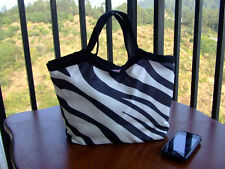 NEW ZEBRA SHOPPING BAG LUNCH TOTE FOR KIDS GIRL LADY - FREE SHIPPING TO USA