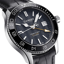 New Christopher Ward C60 Trident Pro 600 GMT Black Automatic Diving Watch 38mm