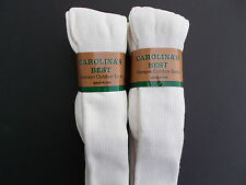 Carolina's Best Made In USA Over The Calf Size 10-13 Off-White Socks Six Pairs