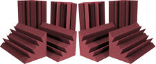 8PCS Acoustic Bass Trap Foam Burgundy Sound Insulation Ceiling For Corner Studio