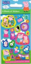6 SMALL SHEETS OF  PEPPA PIG STICKERS FOR PARTY BAGS - FUN