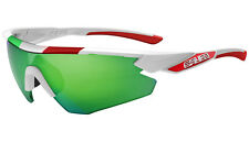 SALICE 012 ITA white frame green iridium lens sunglasses for Colnago 006