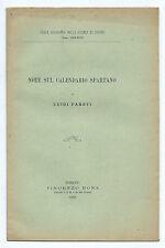 Libro Note sul Calendario Spartano Reale Accademia Scienze Torino Luigi Pareti