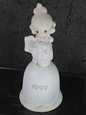 Precious Moments Porcelain Bell 1992 BUT THE GREATEST OF THESE IS LOVE mib