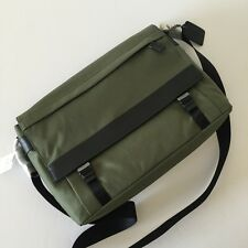 NWT Coach 71738 Surplus Green Nylon Sullivan Messenger Shoulder Bag Crossbody