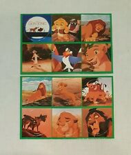 Lot 2 Vintage Disney POGS Milk Caps Sheet Of Six Lion King Tabb Edwards Cinemas