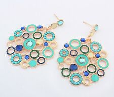 Bohemia Fashion Elegant Women Dangle Rhinestone Cuff Ear Stud Earrings Jewelry