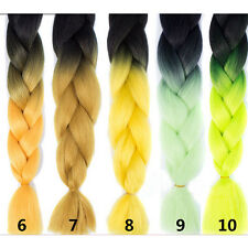 "Colorful 24"" Kanekalon Jumbo Braiding Braids Hair Extensions Best Quality 10#"