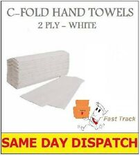 600 x blanc 2 plis c-fold papier serviettes multi plier
