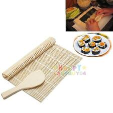 Sushi Maker Kit Rice Roll Mold Kitchen DIY Mould Roller Mat Rice Paddle Set