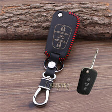 Leather Flip Key Fob Case Cover For Hyundai i20 i30 IX35 ELANTRA ACCENT VERNA 3B