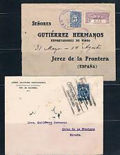 Colombia. Dos cartas circuladas a España años 1916 y 1924