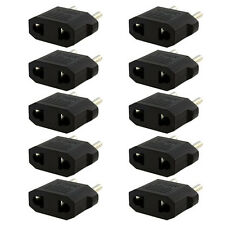 10PCS US/AU to EU Travel Converter AC Power Plug Power Charger Adapter A