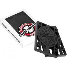 """Independent Skateboard Longboard 0.125 Hardware 1/8"""" Black Riser Pads - Set of 2"""