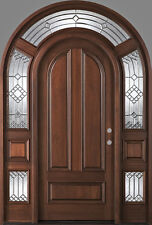 """Stunning 61"""" X 96"""" Solid MahoganyWood Entry Door with Sidelights - $5,465"""