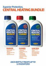 Central Heating Cleaner,Silencer and Leak Sealer Bundle.500ml Bottles. Servicing
