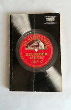 1949 Edition. HIS MASTER'S VOICE. RECORDED MUSIC 1948-9. The Gramophone Co Ltd