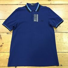 Fred Perry Textured Bold Tipped M7386  Medieval Blue - Medium