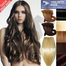 150g 180g 250g Clip In Remy Human Hair Extensions Full Head Double Weft Thick F0
