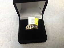 14 k yellow gold sapphires and diamonds ring