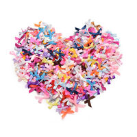 500 Pcs/lot Mini Satin Ribbon Flowers Bows Gift Craft Wedding Party Decor HG